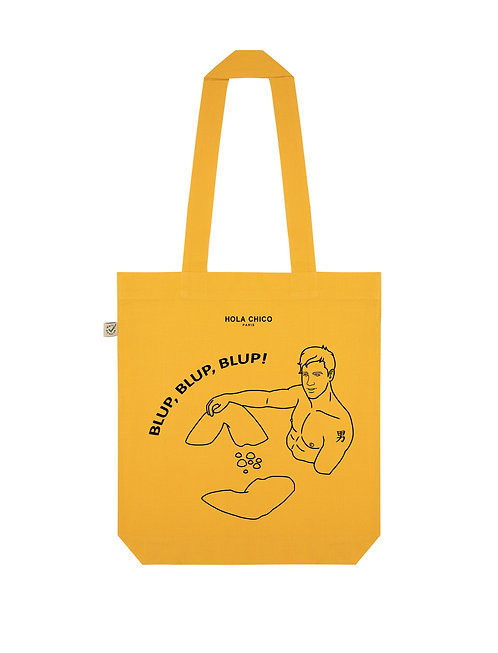 Vue frontal du Tote Bag gold