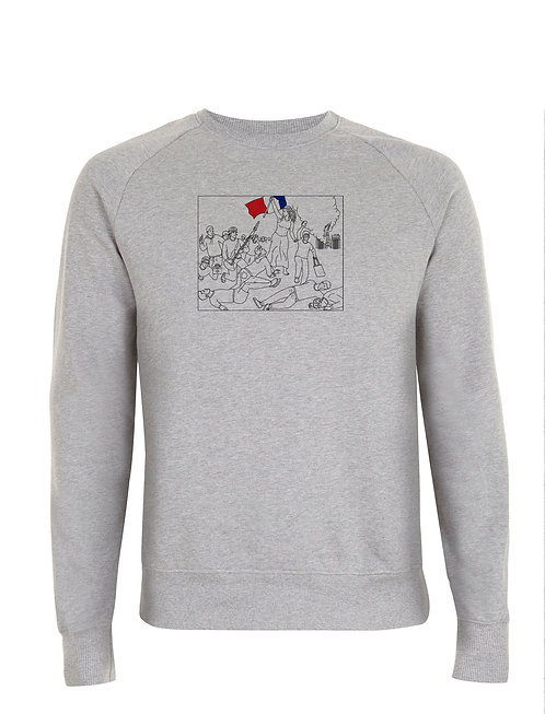 "SWEAT ""1407"" MELANGE GREY"