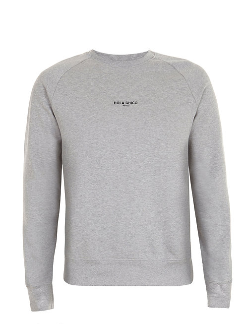 Vue frontal du sweat light heather