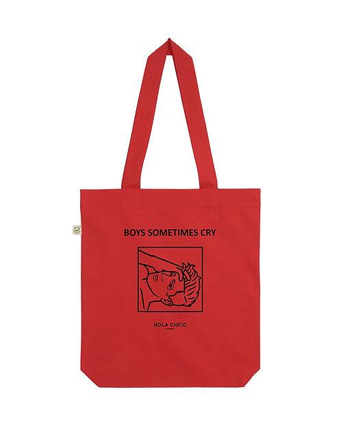 Vue frontal du Tote Bag rouge