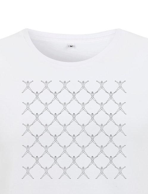 Détail de l'impression du tshirt white