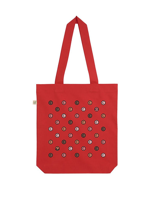 Vue frontal Tote Bag rouge
