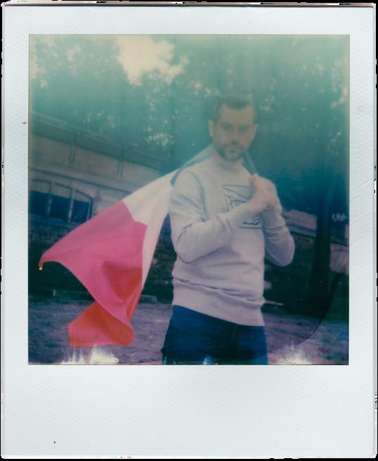 CARLOS WITH FLAG