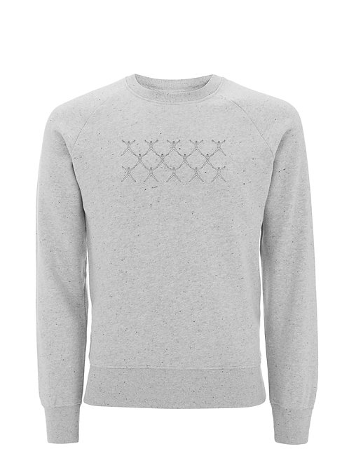 Vue frontal du sweat grey marlm