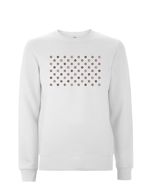 Vue frontal sweat blanc