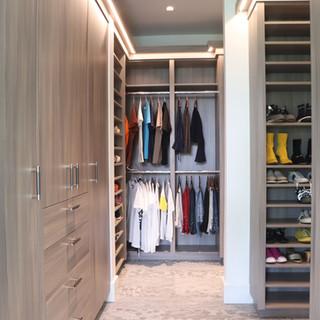 Closet Lifestyle His & Her Master Closet