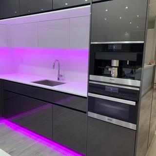 Closet Lifestyle Kitchen Pink Ligihting.