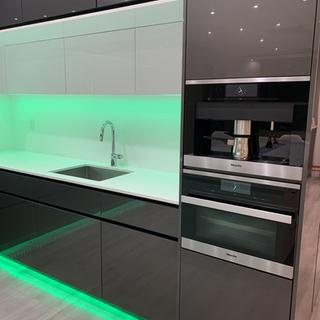 Closet Lifestyle Kitchen Green Lighting.