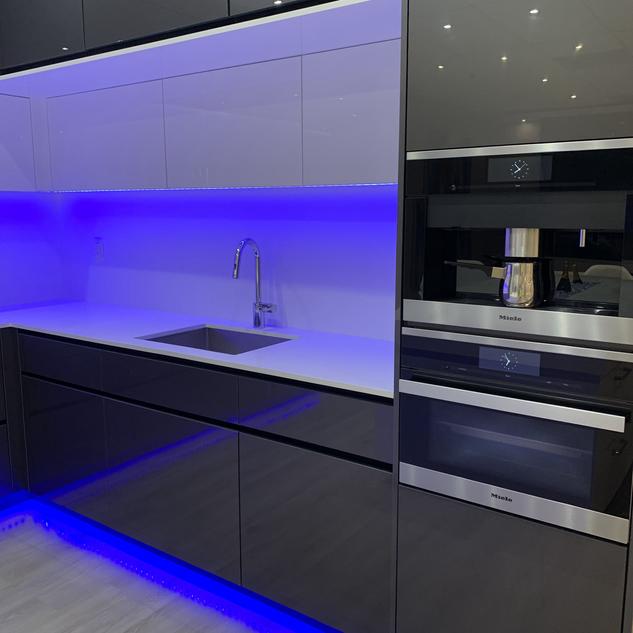 Closet Lifestyle Kitchen Blue Lighting.H