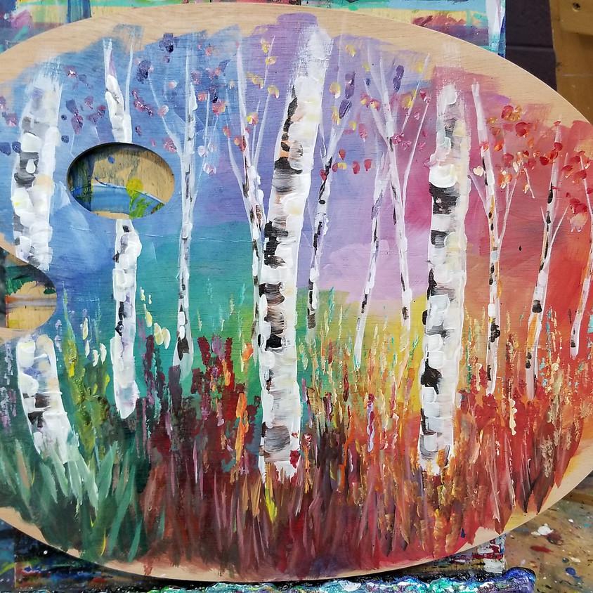 Birch Tree Wood Palette