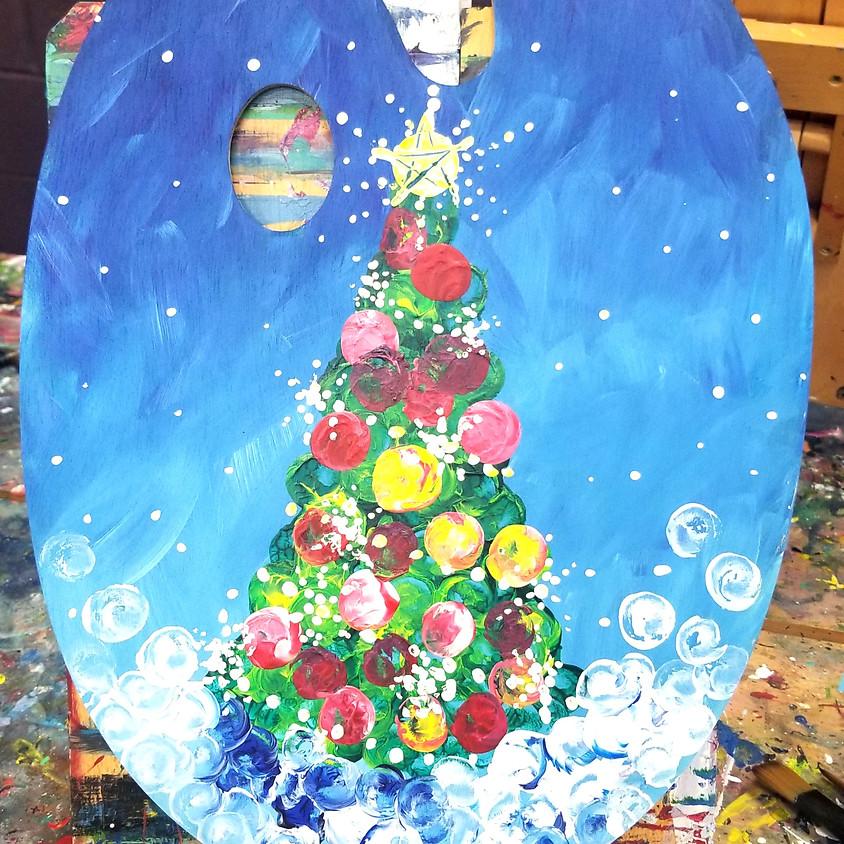 Christmas Tree Wood Palette