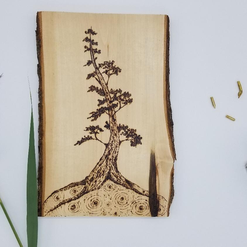 Pyrography:  wood burning