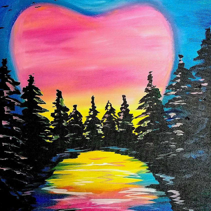 Heart Filled Sunset