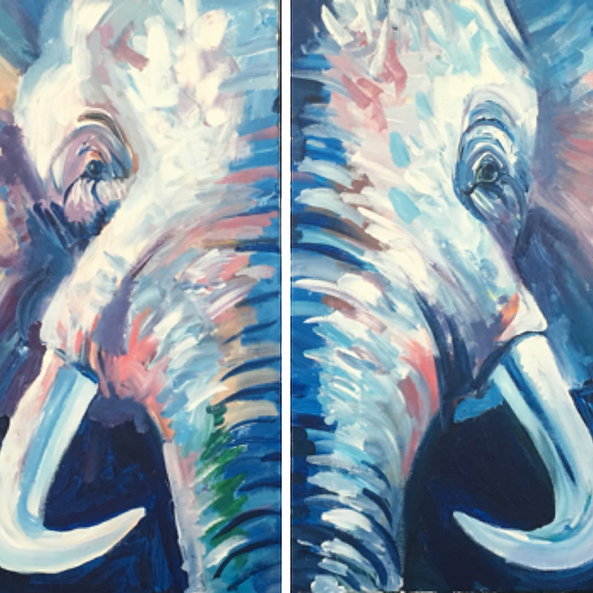 2 Canvas Elephant ( must register 2 guests)