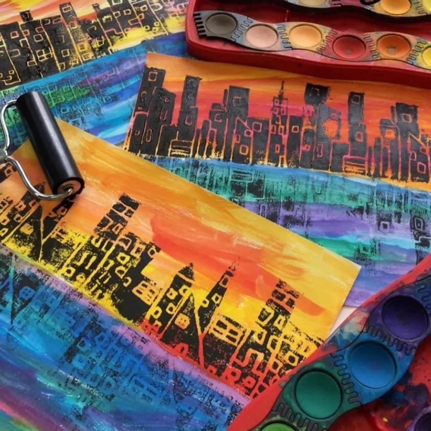 Kreative Kids: Printmaking Paper Art