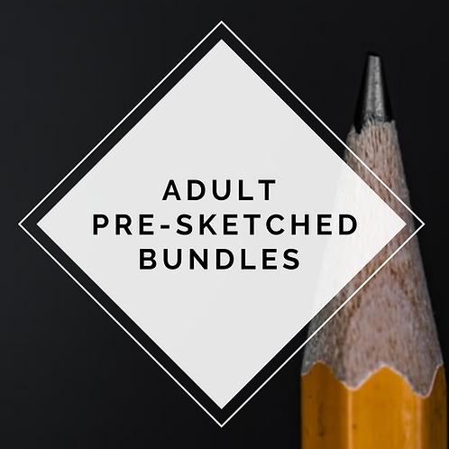 Adult Pre-Sketched Bundles