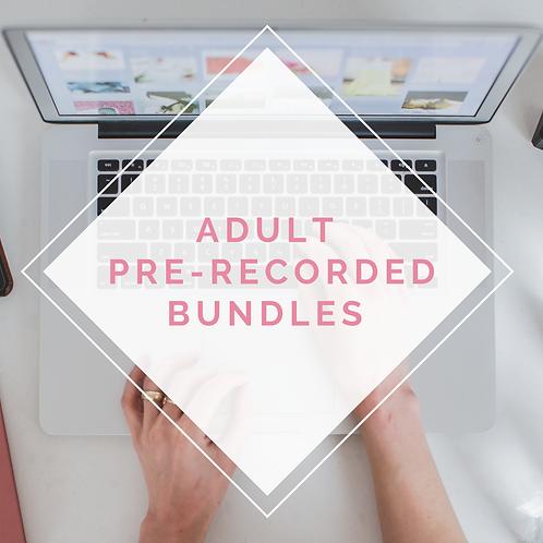 Adult Pre-recorded Bundles