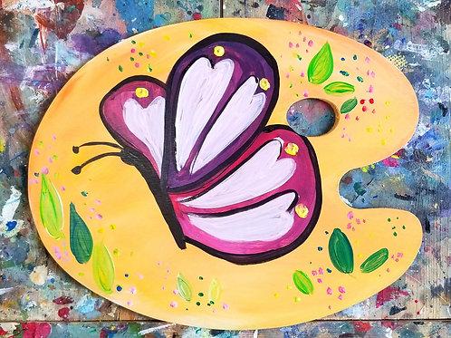 Kids Butterfly Wood Palette