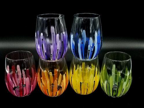 Sunburst Wine Glasses