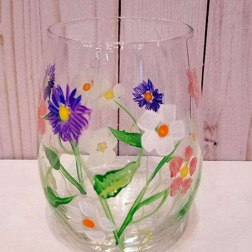 Wildflowers Wine Glasses
