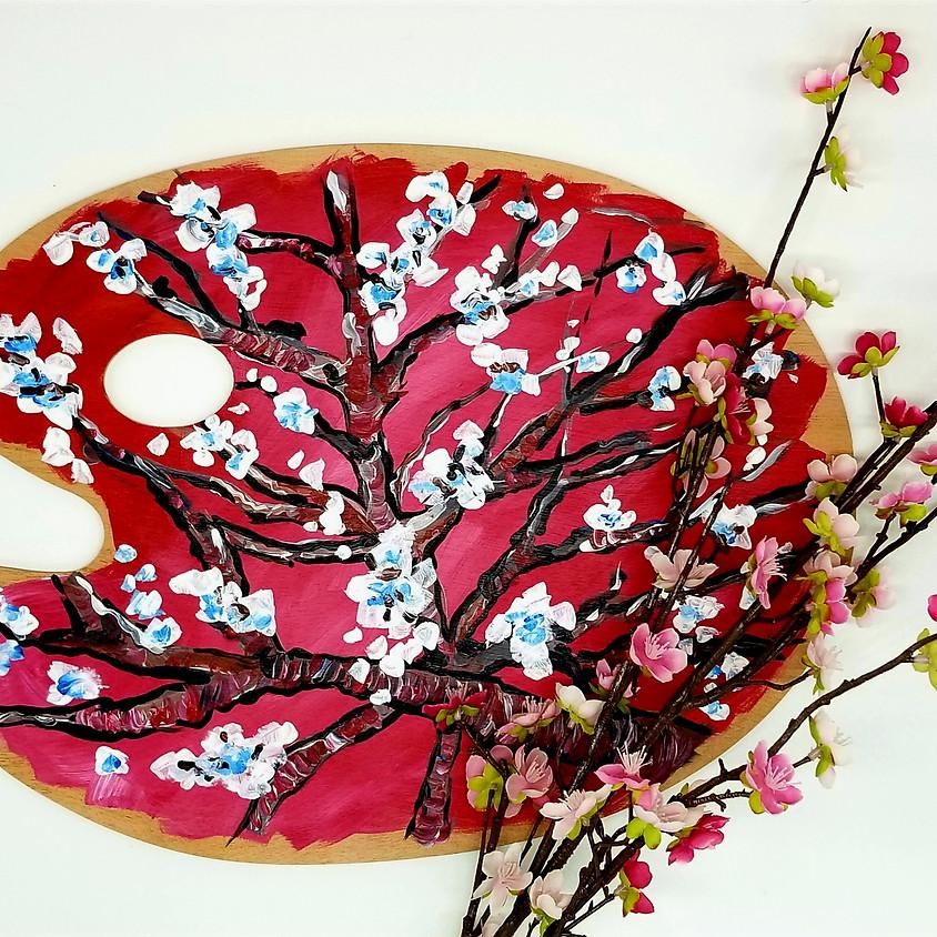 Cherry Blossom Tree Wood Palette