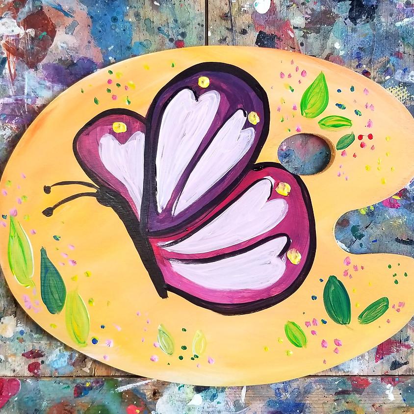 Kreative Kids: Butterfly Wood Palette