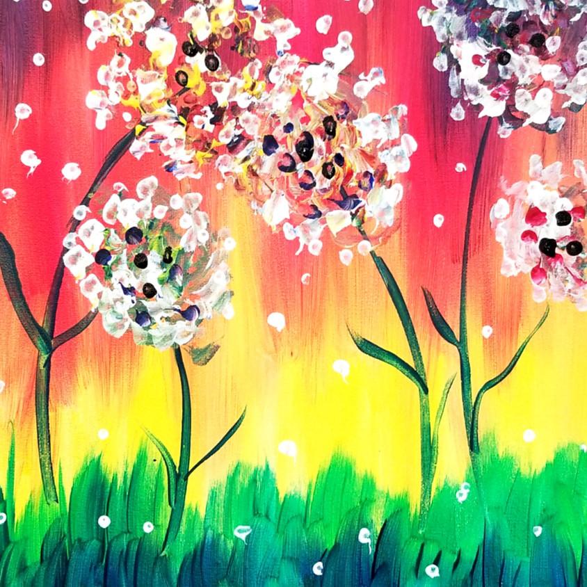 VIRTUAL Kids Paint Flowers