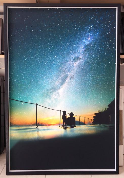 Inkjet Print + Frame - 6111BLK box frame with Art Glass + Fine Art Smooth Cotton print