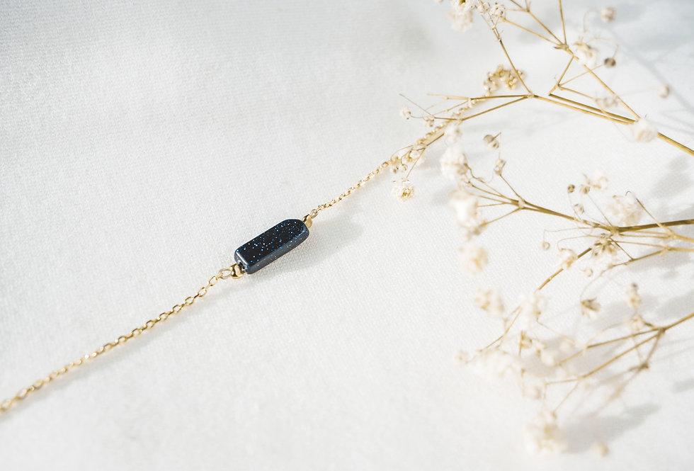 Bracelet GARANCE - BLUE GOLDSTONE - OR