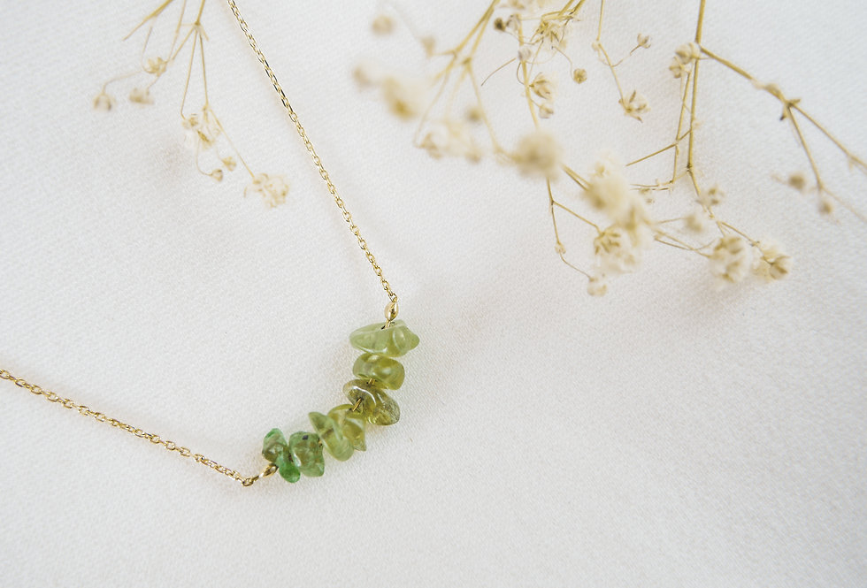Collier INSPIRATIONAL - PERIDOT - OR