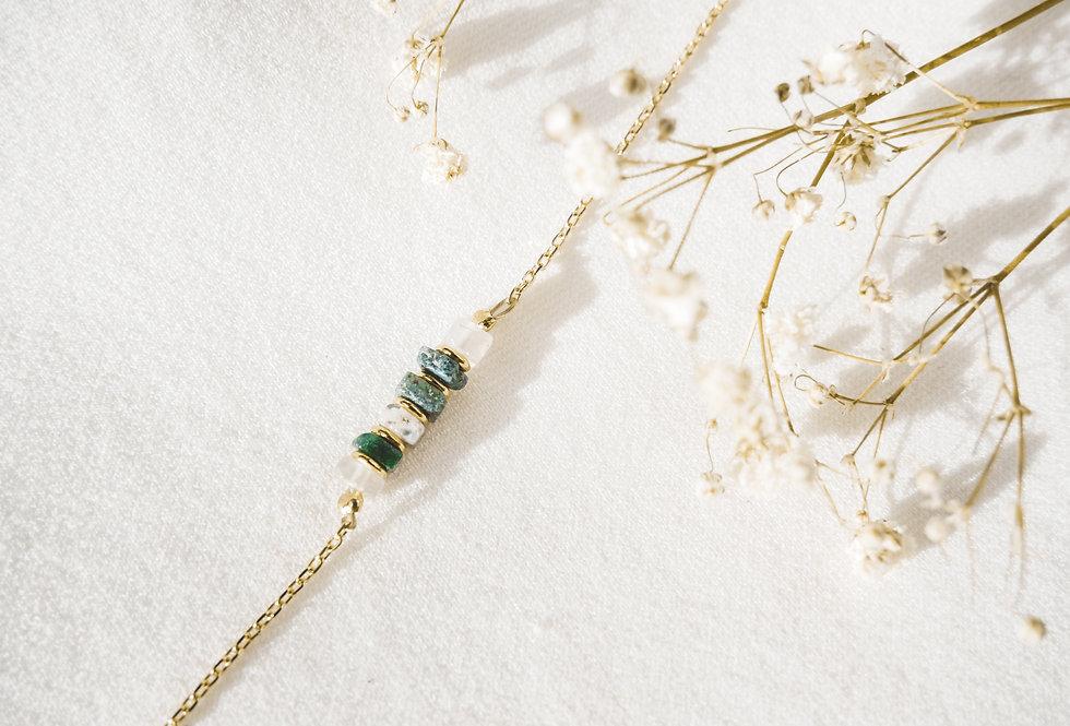 Bracelet CREATIVE - AGATE MOUSSE - OR