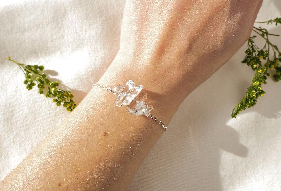 Bracelet INSPIRATIONAL - CRISTAL DE ROCHE - ARGENT
