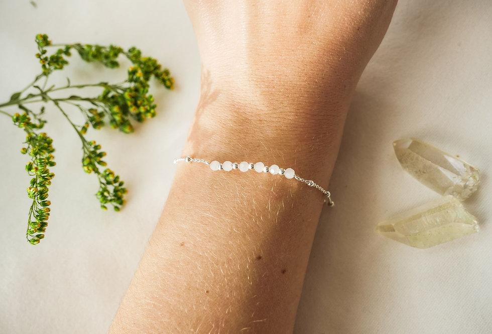 Bracelet MARGUERITTE - NACRE - ARGENT