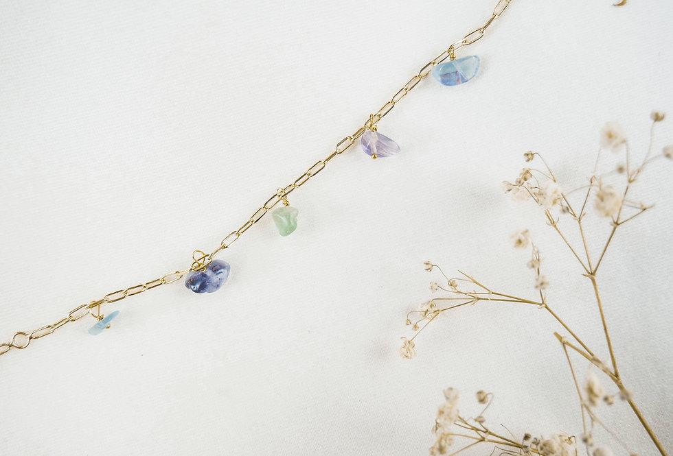 Bracelet FLORENCE - FLUORITE - OR