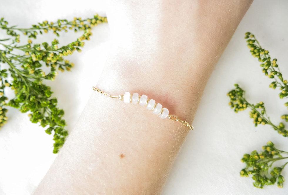 Bracelet CREATIVE - QUARTZ ROSE - OR