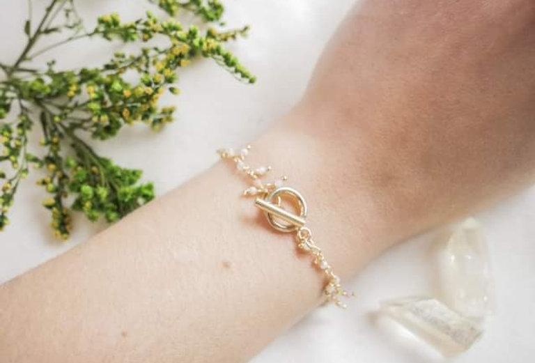 Bracelet JASMIN - OPALE - OR