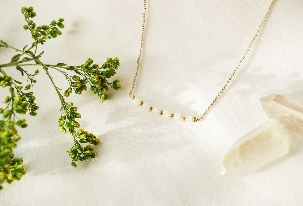 Collier MARGUERITTE - NACRE - OR