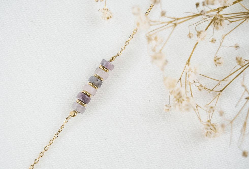 Bracelet CREATIVE - RHODONITE - OR