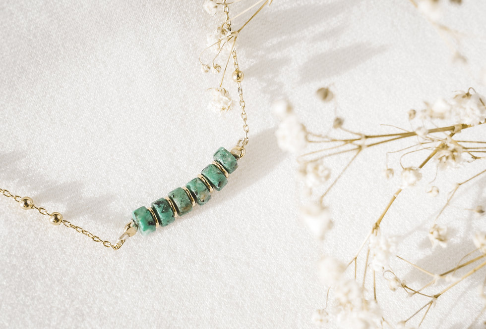 Collier CREATIVE - TURQUOISE - OR