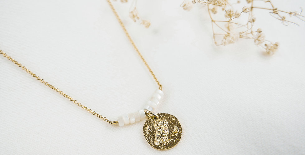 Collier CHOUETTE - NACRE - OR