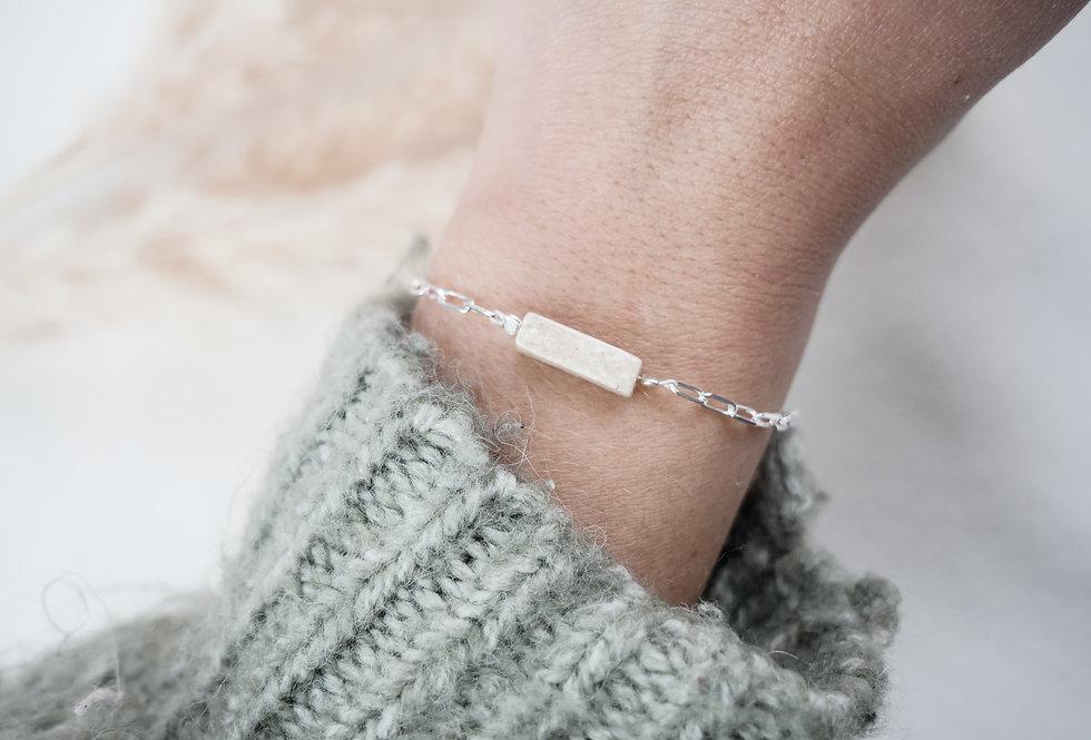 Bracelet GARANCE - PIERRE DE RIVIERE - ARGENT