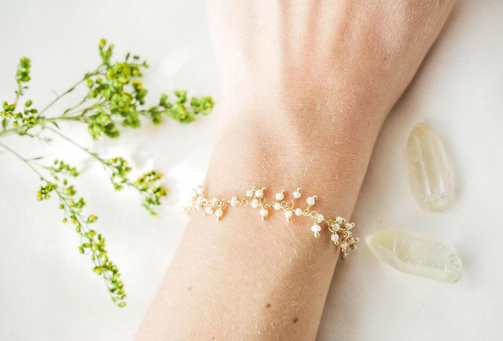 Bracelet JASMIN - NACRE - OR