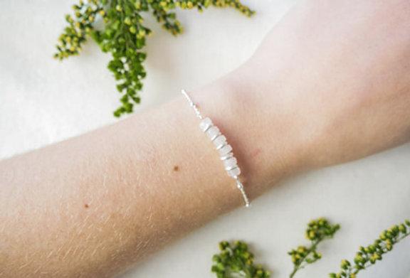 Bracelet CREATIVE - QUARTZ ROSE - ARGENT