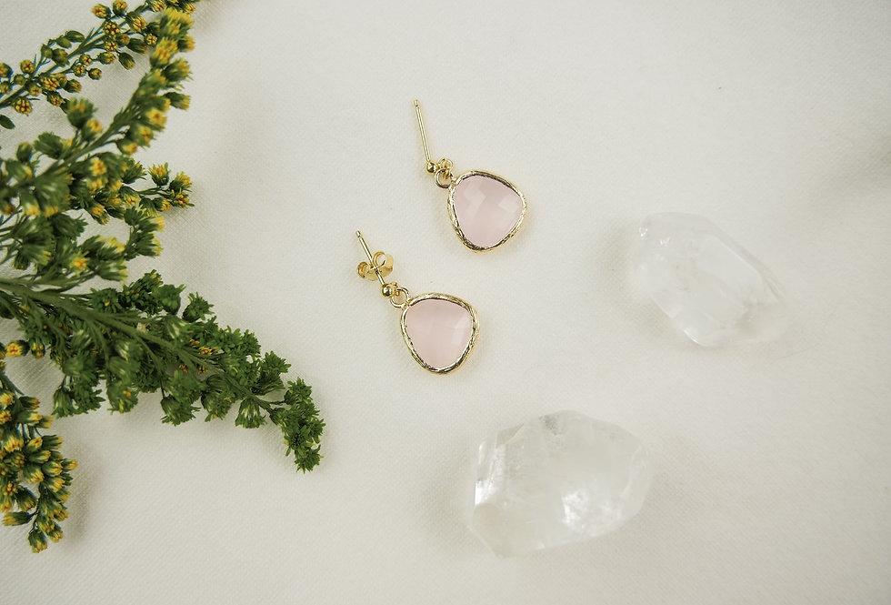 Boucles MARIA -  SIMPLES - ROSE PALE