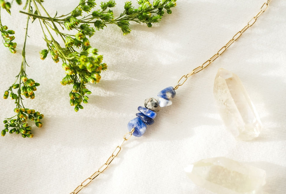 Collier INSPIRATIONAL - SODALITE - OR