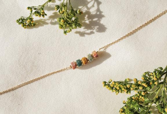 Bracelet CREATIVE - AGATE INDE - OR