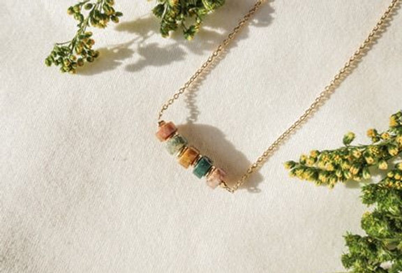 Collier CREATIVE - AGATE INDE - OR