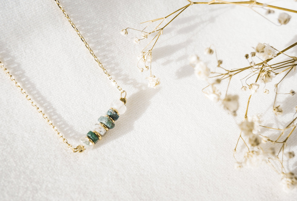 Collier CREATIVE - AGATE MOUSSE - OR