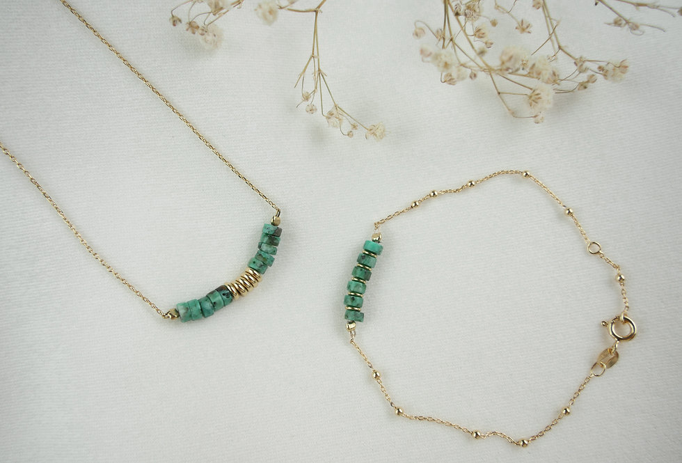 Coffret BILLY GREEN - TURQUOISE - OR