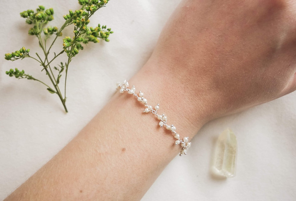 Bracelet JASMIN - NACRE - ARGENT